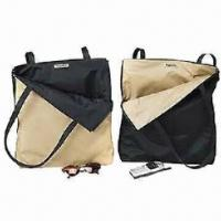 China Beach Bags, Made of Towel/Microfiber, Suitable for Two Uses, Various Colors and Sizes are Available on sale