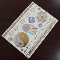 China Water Transfer Temporary Metallic Jewelry Tattoo Stickers Environment Friendly wholesale