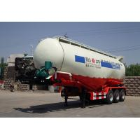China Carbon Steel Stable Cement Bulk , Bulk Tank Truck With 3 Axles For Fly Ash wholesale