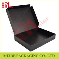 China Black color Litho laminated Mailer style box Hinged Lid corrugated Box for delivery wholesale