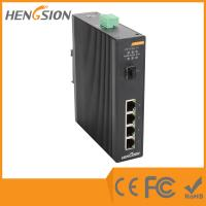 China 1 Gigabit FX SFP Fiber Port / 4 Gigabit TX Ports Industrial Gigabit Ethernet Switch wholesale