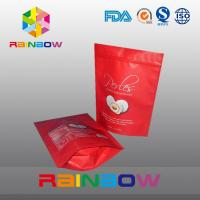 Quality Red matt surface aluminumf oil bottom gusset bags foe snack / cake packaging for sale