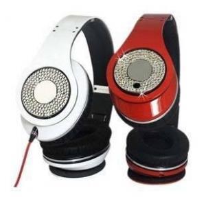 China Diamond Studio Beats By Dre Monster Headphone In Black/White/Red wholesale