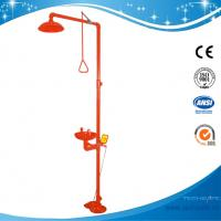 China SH712BSR-RED shower & eyewash station,SS304 Foot pedal emergency shower wholesale