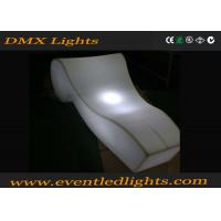 China Rechargeable lighted furniture rentals bar chair , decoration led beach chairs wholesale