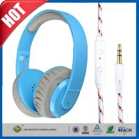 China PC MP3 MP4 Leather ear cups Stereo Gaming Headphone or Earphone With In-line Mic wholesale