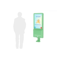 China Hands Free Soap Dispenser Set LCD Digital Signage With Wifi on sale