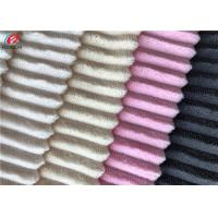 China Soft Comfortable Short Pile Fabric 100% Polyester Strip Design Minky Velboa Fabric wholesale