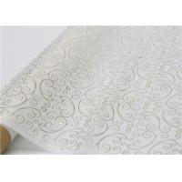 China Moistureproof Hot Stamping Tissue Paper One Side For Flower Wrapping wholesale