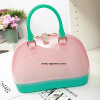 China Buy small clear transparent PVC zipper shell bag for ladies,welcome OEM design wholesale