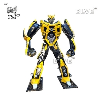 China Large Iron Bumblebee Statue Metal Welded Transformers Sculpture wholesale