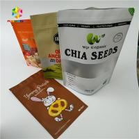 China Food Grade Protein Powder Dry Nut Stand Up Zipper Pouch Transparent Packaging Bag wholesale
