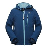 China 5SIZE 100% POLYESTER BLUE WOMAN`S WATERPROOF JACKET WINDPROOF JACKET OUTDOOR CLOTHING on sale