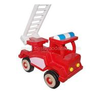 China Wooden fire truck, wood truck toy on sale