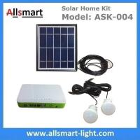 Buy cheap DC Indoor Solar Home Lighting System Kit With 2 Bulbs 5M Wire Solar Emergency from wholesalers