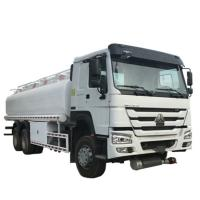 China 20000 Liters 6000 Gallon Diesel Oil Transporter Fuel Tank Truck Sinotruk Howo White Color on sale