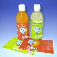 China Hand Application Printed Shink Sleeve Lables /  Wrap For Beverage Bottle Packaging wholesale