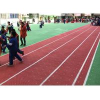 China Anti Skidding PP Running Track Flooring Anti Oxidation With Drainage System wholesale