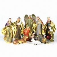 China Religious Polyresin Statues with 11 Pieces Manger Set, Measures 9 Inches on sale