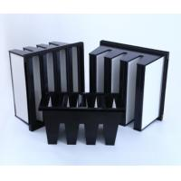 China MERV16 V Bank Cell HEPA Media Filter With ABS Plastic Frame 14sqm Area wholesale