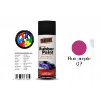 China Multi - Purpose Removable Rubber Spray Paint Fluo Purple For Wheel Color Change wholesale