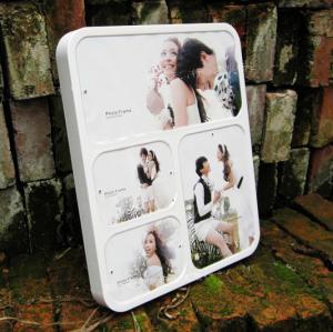 China wall-mounted white acrylic photo frame wholesale