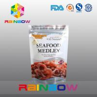 China Customized Printing Stand Up Zipper Foil Pouch Packaging For Frozen Seafood wholesale