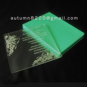 China customized acrylic invitation wholesale