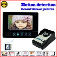 China 2.4GHz motion detection 7 inch wireless color video doorbell wholesale