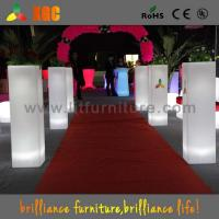 China Colorful Wedding Decoration Flower Pots Plastic Flower Pillars for Indoor / Outdoor wholesale