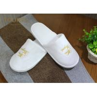 Quality One Size Fits Most Coral Fleece Disposable Hotel Slippers with Various Logo for sale