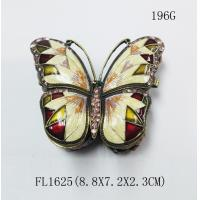 China Metal Butterfly Jewelry Box butterfly shape metal jewelry box for ladies gift on sale