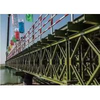 China Temporary Steel Bridge Painted / Hot Dip Galvanized Prefabricated Foot Bridge wholesale