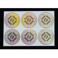China Transparent PP / PVC / PET 3D Hologram Sticker Glossy varnish Holographic Labels wholesale