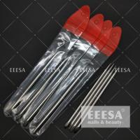 China Orange Metal Cuticle Pusher Nail Art Design  Manicure Pedicure Care wholesale