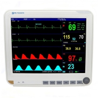 China 15 Inch Display Multi Parameter Patient Monitor with 6 Standard parameters: ECG, RESP, NIBP, SPO2, 2-TEMP, PR/HR on sale