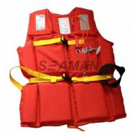 China 210D Polyester Oxford EPE Foam Workers Adult Life Vest With Whistle / Rescue Buddy Line wholesale