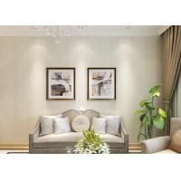 White Silver Grey Removable Contemporary Wall Coverings with No Harmful Smell