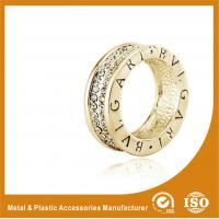 China Crystal Gold Silver Wedding Couple Ring , 925 Sterling Silver Couple Ring wholesale