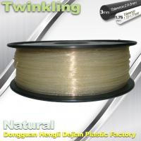 China ±0.03 Tolerance Roundness 3d Printing Filament 1.75 3.0mm Transparent Color wholesale