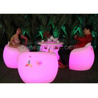 China LED Lighting Round French Classical  Armchair For Golf Club / Disco / KTV wholesale