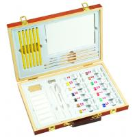 China Professional Childrens Art Set Wooden Box , Durable Artist Acrylic Paint Box Set wholesale