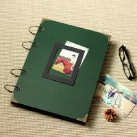 China Large Photo Album/ Scrapbook Album // Wedding Album // Wedding Guest Book/Dark green scrap on sale