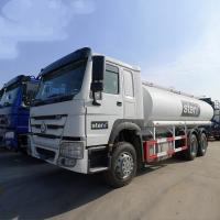 China White HOWO 20000L 6×4 Oil Tanker Truck Diesel Fuel Type Manual Transmission on sale