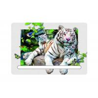 China 0.6mm Pet 5d Attractive White Tiger 7x11cm Magnets With Notepad For Refrigerator wholesale