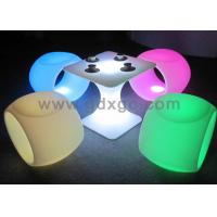 China Glowing Fashionable Bar Chairs / Bar Stool , Colorful Led Lighting Furniture wholesale