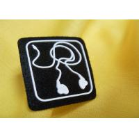China Small Mini Custom Embossed 3D Rubber Badge Silicon Patch for Shoes wholesale