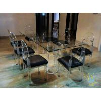 China acrylic kitchen table sets cheap wholesale