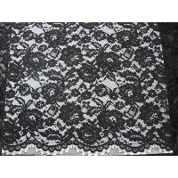 China Heavy Corded Lace Fabric Black wholesale