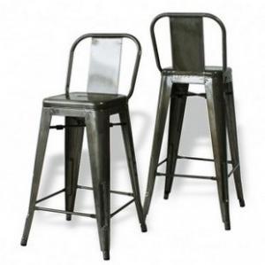China Metal Tolix Iron Bar Stool / TOLIX Steel Backrest Barstools For Dining wholesale
